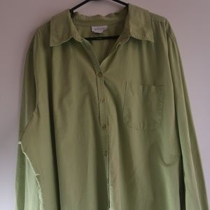 Avenue Womens Top Size 26/28 Green Long Sleeve Top